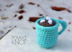 Crochet Hot Chocolate Mug Ornament