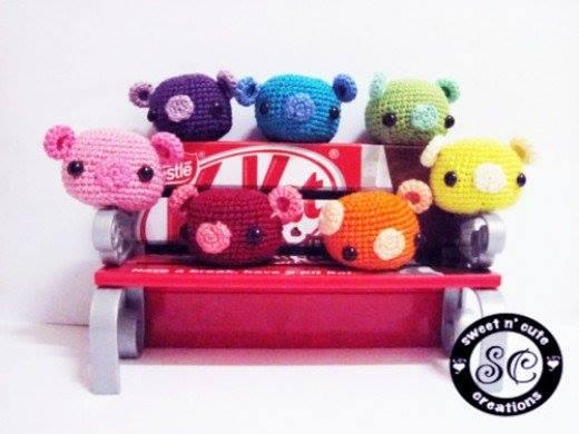 Cute Little Piggy crocheted