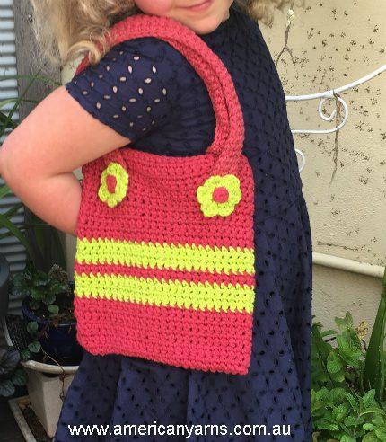 crochet bag flowers